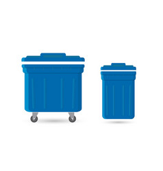 Garbage can with waste vector