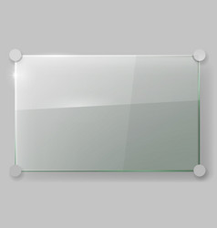 Glass plate on wall vector