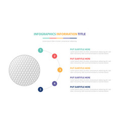 Golf ball sport infographic template concept with vector