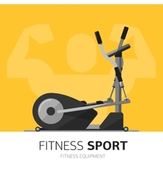 Gym equipment concept Ellipsoid icon vector