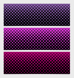 halftone square pattern banner template set vector image