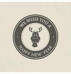 Happy christmas vector image