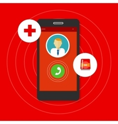 health emergency call mobile phone vector image