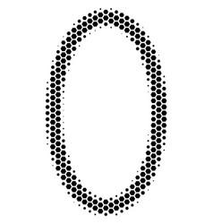 Hexagon halftone contour ellipse icon vector