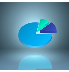 Icon pie chart vector