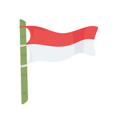 Indonesia flag in bamboo vector