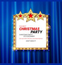 invitation merry christmas party 2019 vector image