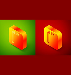 Isometric tool allen keys icon isolated on green vector