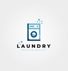 laundry wash machine logo icon design creative vector image