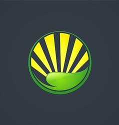 Leaf sun ecology abstract logo vector
