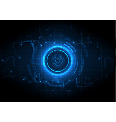 light blue futuristic game circuit technology vector image