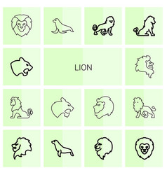 lion icons vector image