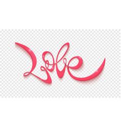 Love handwritten lettering blank on vector