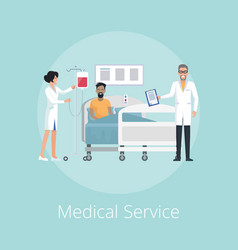 medical service nurse and doc vector image