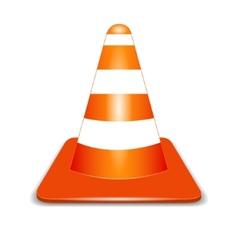 Orange cone vector image