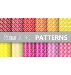 Pastel retro patterns vector