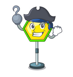 Pirate character traffic sign regulatory and vector