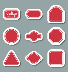 red vintage labels set frames for design vector image