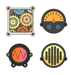 Robot technical Colorful meter icon vector