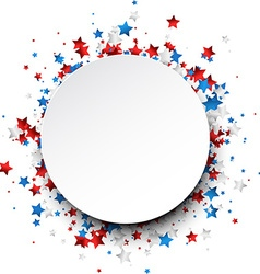 Round background with stars vector