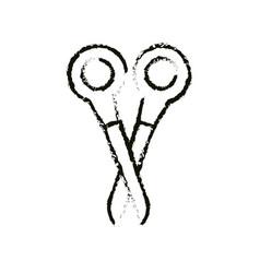 Scissor cut utensil vector