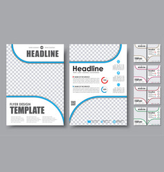 Set flyers brochure a4 with empty space for photo vector