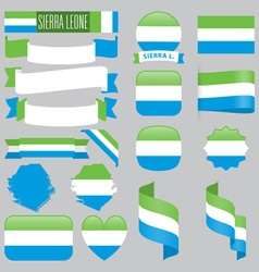 Sierra Leone flags vector image