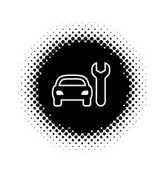 silhouette icon of car repair service vector image