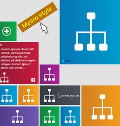 social network icon sign buttons Modern interface vector image