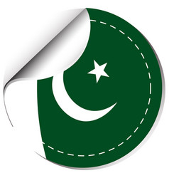 Sticker design for pakistan vector