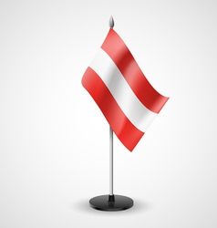 Table flag of Austria vector