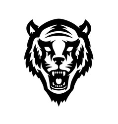tiger head icon on white background design vector image