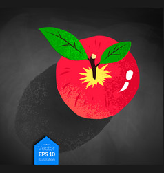 Top view of red apple vector