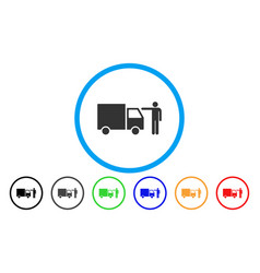 truck customer rounded icon vector image