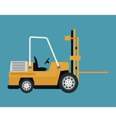 Truck forklift warehouse machine work vector