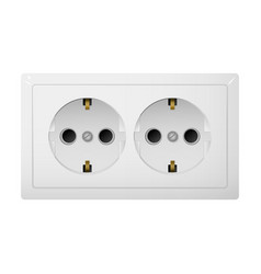 Twin socket type f receptacle from russia vector