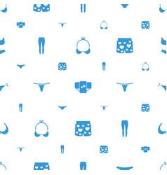 Underwear icons pattern seamless white background vector