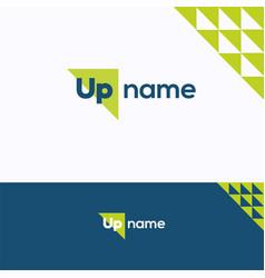 Up name logo vector
