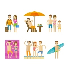 Vacation holiday logo design template vector