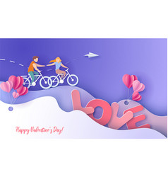 Valentines day card with couple take care love vector