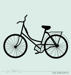 Vintage Retro Bicycle Background vector