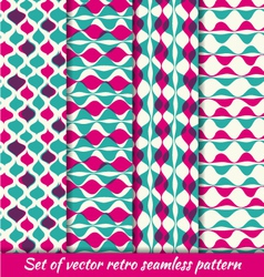Vintage retro seamless pattern set vector image