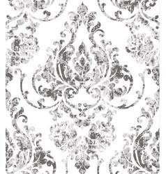 Vintage rococo texture pattern floral vector