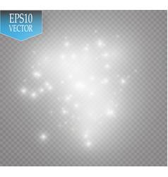 White glitter wave white star vector