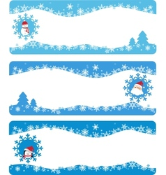 Winter banners and backgrounds vector image