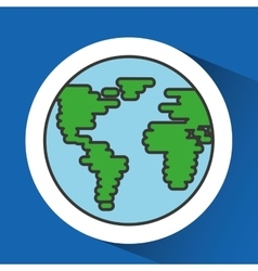 world planet design vector image