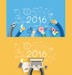 2016 new year business success vector image vector image