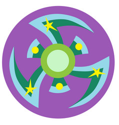 blue and green spinner vector image vector image