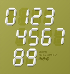 Digital paper numbers set vector image vector image