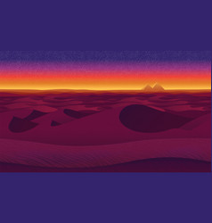 Horizontal seamless background with desert vector